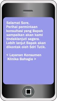 Contoh terima SMS dengan Signature